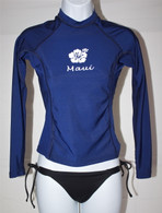 Women's Long Sleeve Navy Rash Guard