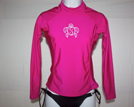 Women's Long Sleeve Hot Pink Honu Rash Guard