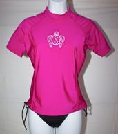 Women's Short Sleeve Hot Pink Honu Rash Guard