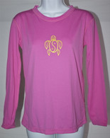 Women's Long Sleeve Dark Pink Honu UV Shirt