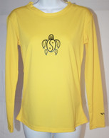 Women's Long Sleeve Yellow Honu UV Shirt