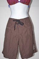 Women's Brown Quick Dry Long Board Shorts