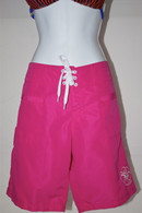 Women's Hot Pink Quick Dry Long Board Shorts