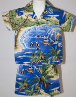 Boy's Aloha Shirt and Short Set in Old Hawaii