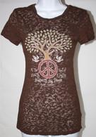 Junior Women's Peace & Prosperity Burnout T-Shirt