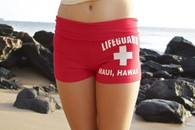 Junior Women's Lifeguard Shorts in Red