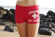 Junior Women's Lifeguard Shorts in Red