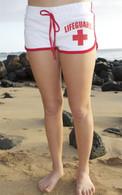 Junior Women's French Cut Lifeguard Shorts in White