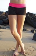 Junior Women's Neon/Black Roll-Over Maui Shorts