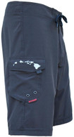 Men's Maui Rippers 4-Way Stretch 'Core' Board Shorts in Black
