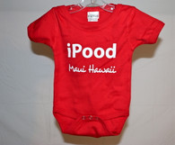 """iPood"" Maui, Hawaii Baby Onesie"