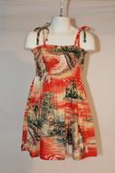 Girl's Aloha Dress In Maui Sunset