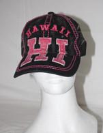 Hawaii HI Hat In Black/Hot Pink