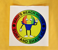 MBH Shave Ice Mascot Sticker