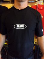 Black Short Sleeve UV Shirt w/ Maui Logo