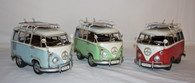 Medium Old School Surf VW Vans In Blue, Red, and Green