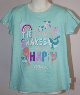 "Little Girls ""The Beach Makes Me Happy"" T-Shirt"