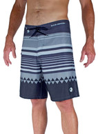Men's Maui Rippers Honolua Striped 4 Way Stretch Board Shorts in Gray