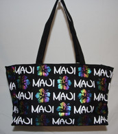 Rainbow Hibiscus Beach Bag (large)