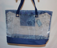 Sheer Hibiscus Beach Bags