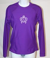 Women's Long Sleeve Purple Honu Rash Guard