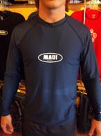 Navy Long Sleeve UV Shirt w/ Maui Logo