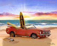 Mustang Convertible Cruiser Art