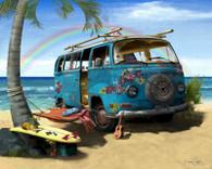 VW Flower Bus Cruiser Art
