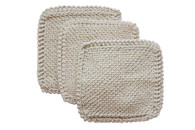 Certified Organic Cotton Original Scrub Cloths (Set of 3)