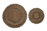 Natural Jute Sun Trivets (Set of 2)