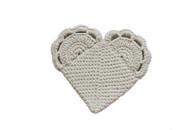Knit Loving Heart Pot Holder- Certified Organic Cotton Extra Grip