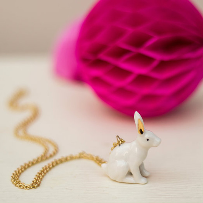 Porcelain Rabbit Necklace