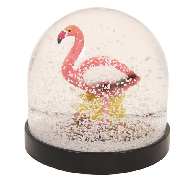 Flamingo, snow globe