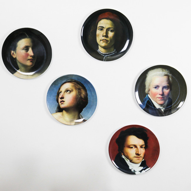 Melamine Plates, National Gallery Portraits - OUT OF STOCK
