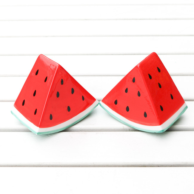 Watermelon Salt & Pepper shakers