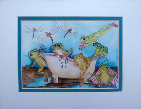 frog tub print