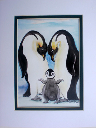 penguin love print