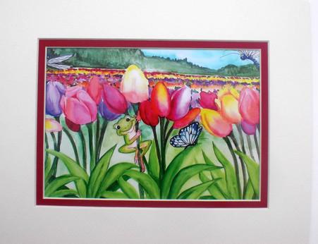 Tulip fields matted