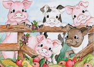154 pigs garden card