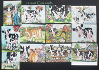 cow card asst (12 cow cards that are 5x7 and can be framed or sent)