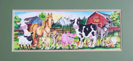 Barnyard limited edition print 12x26
