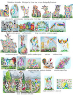 Rainbow animals  each of these can be purchased separately as an 8x10 print, mousepad, or tee shirt .
