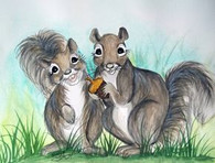 2 squirrels