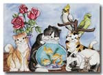 cats and fishbowl card