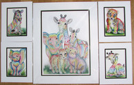 Set of rainbow animal prints