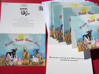 set of 24 Animals of Peace Christmas cards