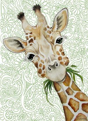 chubby cheek giraffe card