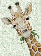 chubby cheek giraffe card