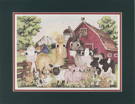 Barnyard matted 16x20 limited edition lithograph
