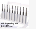 Carbide End Mill Engraving Bits 1.3mm-3.175mm